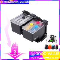 Substituição Do Cartucho de Tinta Recarregáveis para Hp46 46 GraceMate para DeskJet 46 2520hc 2020hc 2025hc 2029 2529 4729 de Impressora|ink cartridge|printers ink cartridges|refillable ink cartridges -