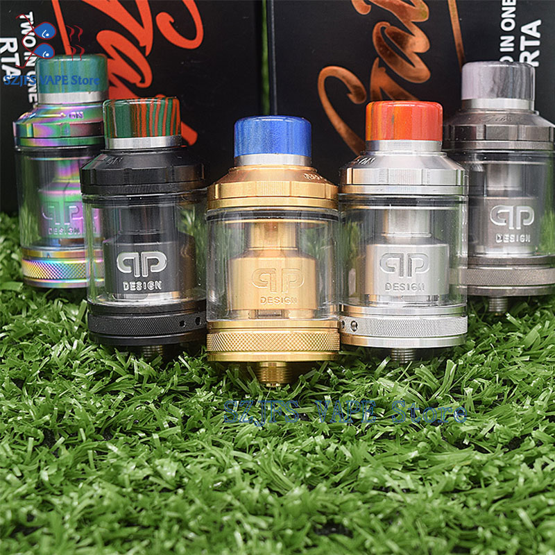 <font><b>QP</b></font> gata Design <font><b>KALI</b></font> <font><b>V2</b></font> <font><b>RDA</b></font> Atomizer 1:1 25mm Diamter PC PEI Material Ecig fit for 510 Mods vape tank VS Fatality Juggerknot mini image