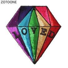 Нашивка на одежду с блестками красочные алмазные буквы большие