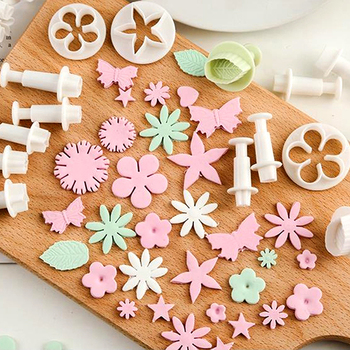 Mermaid Flower Pentagram Fondant mould Cutter Cake Decorating Plunger Biscuit Cookies Diy Mold Christmas Sugarcraft Cake Tools decorating cookies party