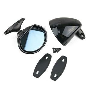 Image 4 - Universal Vintage Black Car Door Wing Blue Anti glare Side View Mirror w/Gaskets