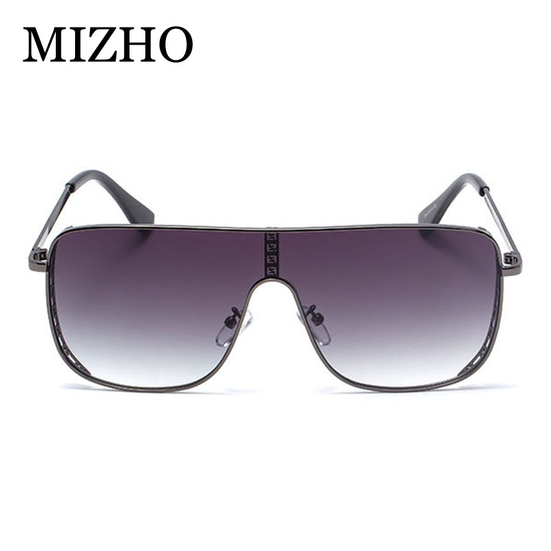 MIZHO F Word Fashion All-in-one Goggles Design Rimless Sunglasses Women Brand Luxury Gradient Vintage Oversized Glasses Ladies
