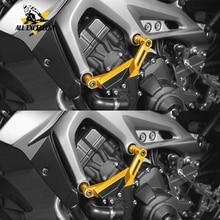אופנוע התרסקות מגן CNC מנוע כיסוי מסגרת גולשים FZ 07 2014 2015 2016 2017 2018 עבור ימאהה MT 07 FZ 07 FZ07 MT07 MT 07