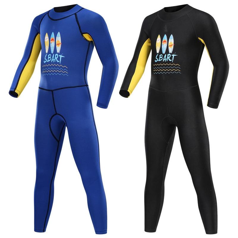 New Style Children's Sun-Protection Swimsuit Long-Sleeve Women's Boys Onesie Big Boy Swimsuit Diving Suit