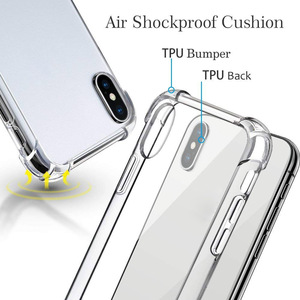 Image 3 - Suntaiho super à prova de choque claro caso macio para o iphone xs max 6 s 7 8 plus 6plus 6splus silicone telefone celular de luxo capa traseira