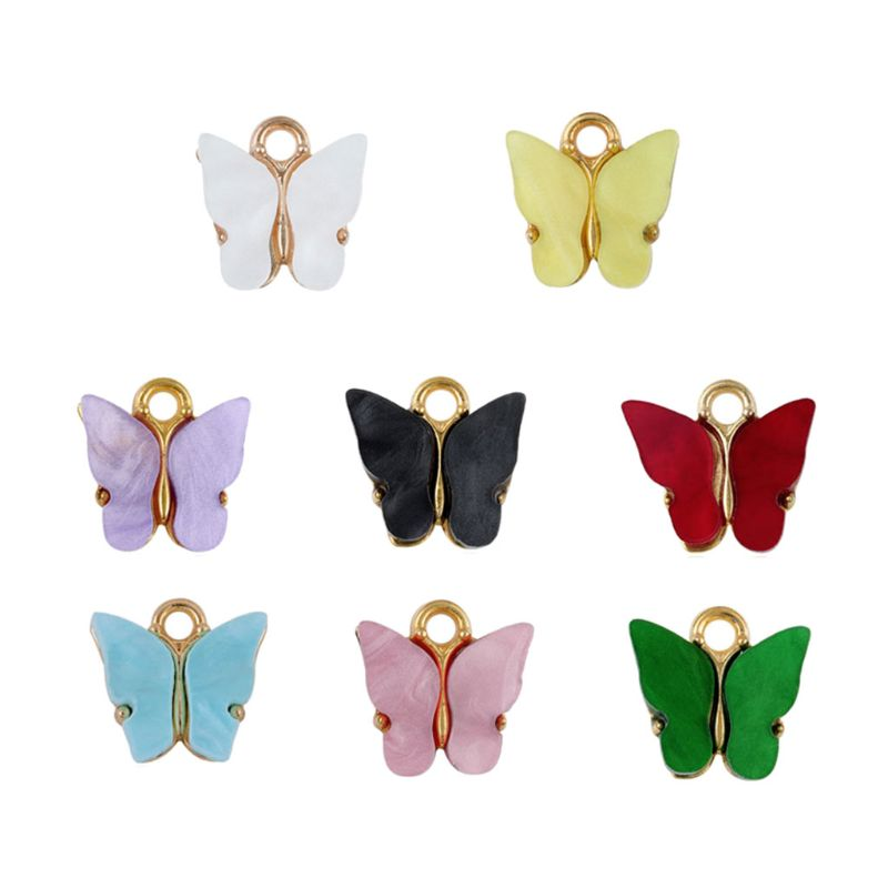 20Pcs Colorful Acrylic Butterfly Charms Pendant Necklace Bracelet Jewelry Making WXTE 4