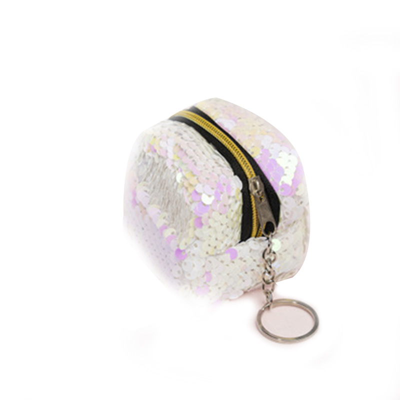 New Fashion Sequins Coin Purse Small Wallet Zipper Mini Three-dimensional Girls Women Handbag Wallet Cartera Mujer