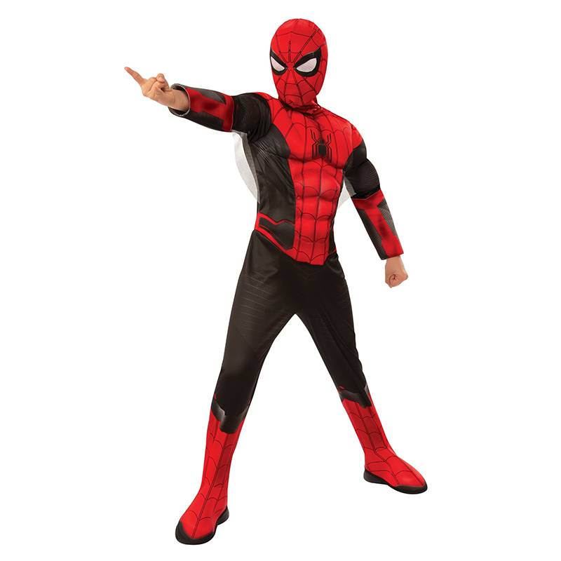 The Newest Spider Suit Child Marvel Spiderman Far From Home Superhero Muscle Kids Halloween Trick-or-treating Cosplay Costume