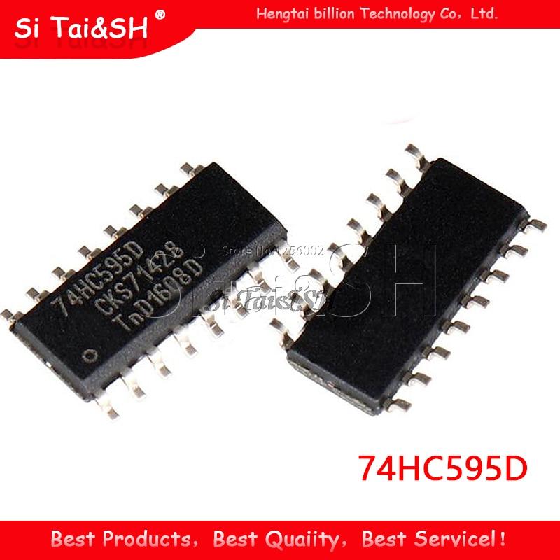 20PCS 74HC595D SOP-16 74HC595 SOP SN74HC595DR SMD new and original IC