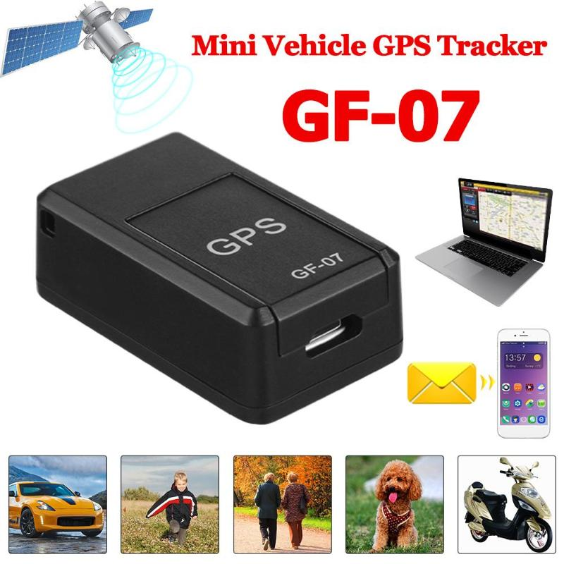 GF07 GSM GPRS Mini Auto Magnetische GPS Anti-Verloren Opname Real-time Tracking Device Locator Tracker Ondersteuning Mini TF Card title=
