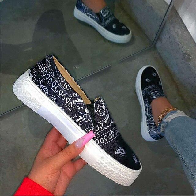Platform Slip on Ladies Flat Shoes