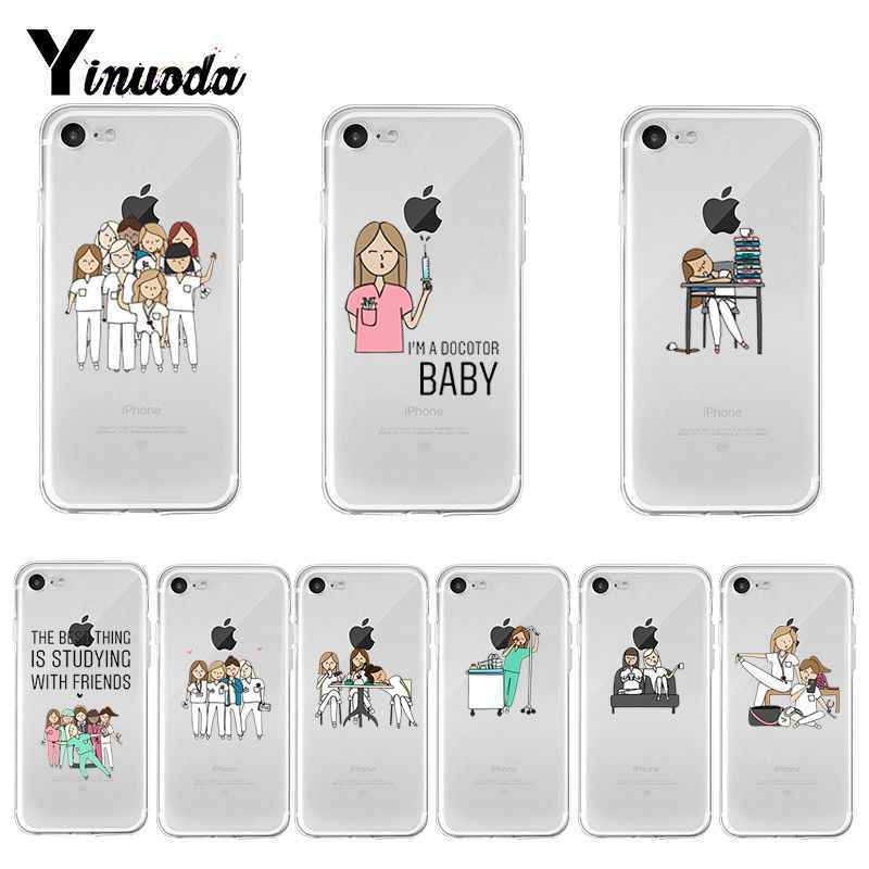Yinuoda Kartun Dokter Perawat 2018 New Mewah Fashion Cell Phone Case untuk Apple Iphone 8 7 6 6S PLUS X XS Max 5 5S SE XR Cover