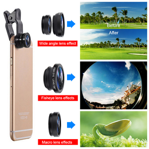 Fish Eye Lens Wide Angle Macro Fisheye Lens Zoom For iphone 7 8 fisheye +wide angle +macro camera lenses dropshipping