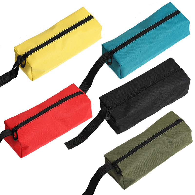 Urijk 1 Pcs 5 Colors Oxford Canvas Tool Bag Waterproof Zipper Storage Hand Tool Pouch For Storaging Metal Parts Travel Makeup