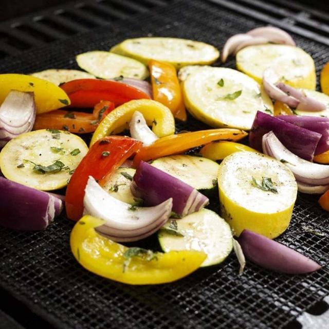2 couleurs Barbecue gril maille tapis antiadhésif résistant à la chaleur téflon poisson légume fumage Pad Barbecue ustensiles de cuisson accessoires de cuisine