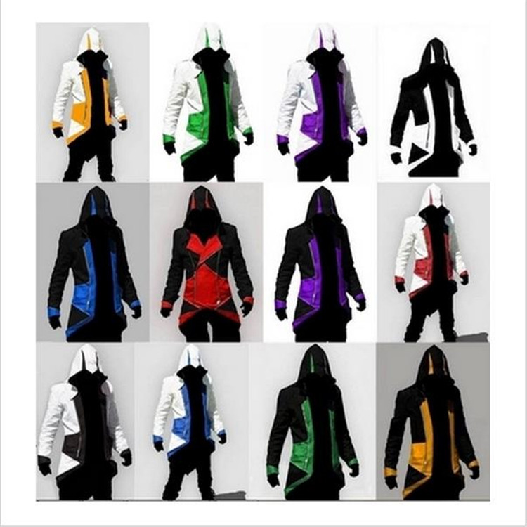 Details about  /Men Adult Streetwear Hooded Halloween Costume Edward Assassins Creed Cosplay