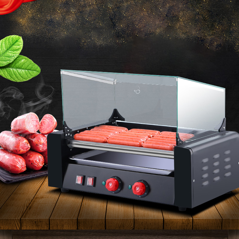 Commercial Grill French Hot Dog Machine Sausage Roasting Machine Hot Dog Barbecue machine Hot Dog Roller Machine SC 007C|Rotisseries| |  - title=