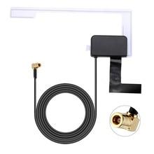 купить Eightwood Dual Band DAB Antenna DAB+ Car Radio Aerial of Amplified Internal Glass Mount ,SMA to F Adapter for AutoDAB All Models дешево