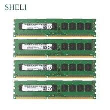 Sheli 4 gb/8 gb 2rx8 PC3L-10600E/12800e ddr3 1333 mhz/1600 mhz 240pin memória do servidor ecc dimm ram