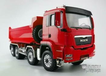 LESU 8*8 1/14 RC Dumper Truck Front Hydraulic Lifting MAN Painted Model Light THZH0487