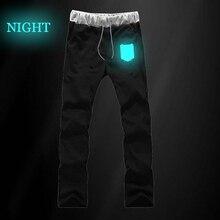 Осенняя уличная одежда в стиле Харадзюку; спортивные штаны для мальчиков-подростков с принтом «атака на Титанов»; длинные брюки; мужские хлопковые брюки для бега