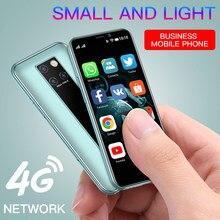 Ultra-fino mini smartphones soyes S10-H suporte google play store android 9.0 cartão duplo 4g estudante reconhecimento de rosto do telefone móvel