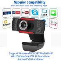 Cámara Web Digital con micrófono para PC, ordenador, portátil, de escritorio, USB, 1080P/720P