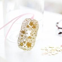 48 шт Изысканная sakura позолоченные закладки китайская винтажная