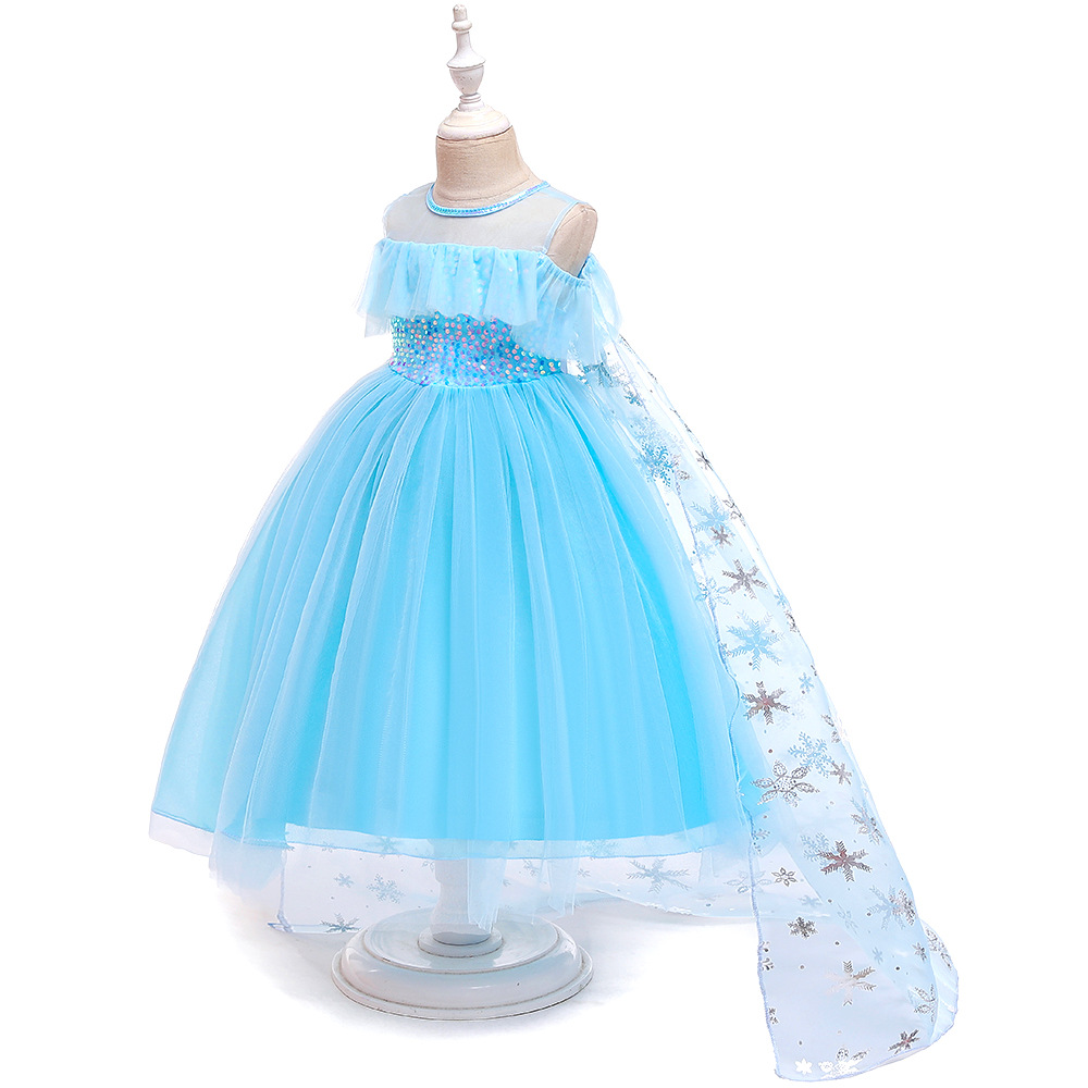 H6efe9323542a49f281b17f3d4ad2478bA Unicorn Dress Birthday Kids Dresses For Girls Costume Halloween Christmas Dress Children Party Princess Dresses Elsa Cinderella