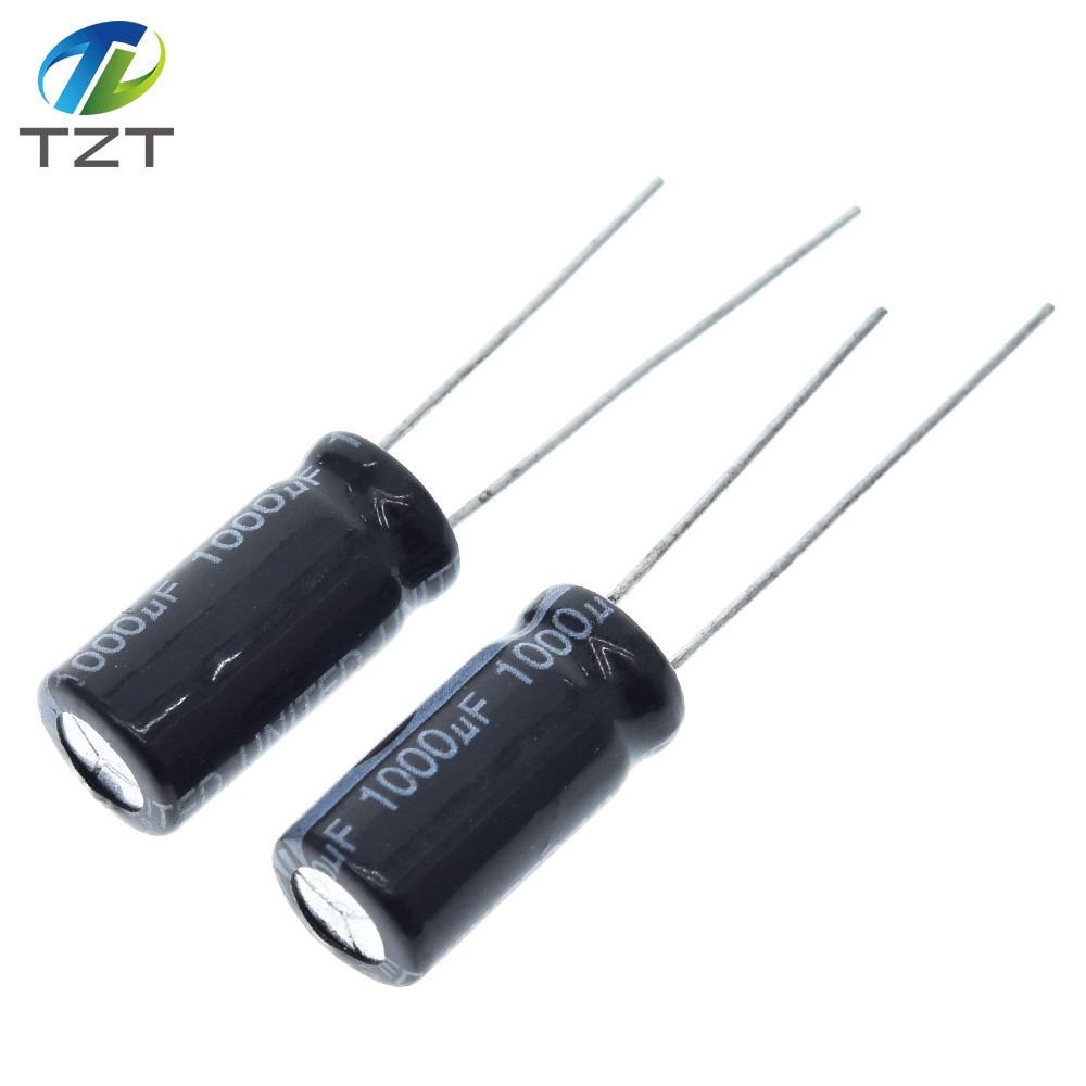 10 шт., алюминиевый электролитический конденсатор 1000 мкФ 16 в 8*16 DIP, 1000 мкФ 16 в 16 в 1000 мкФ 16 В 1000 мкФ