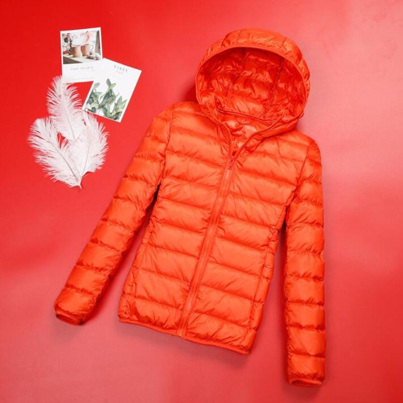 Spring Plus Size 4XL Women Down Jacket Winter Ultra Light 90% White Duck Down Coat Short Hooded Puffer Jacket Female Warm Parka