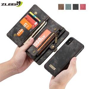 Image 1 - Luxe Magnetische Afneembare Case Voor Iphone 12 Mini 11 Pro Xs Max Xr X 7 8 6 S Plus Se 2020 Lederen Portemonnee Kaart Telefoon Tassen Cover