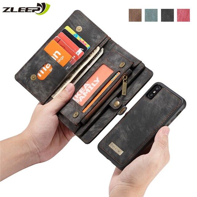 Luxe Magnetische Afneembare Case Voor Iphone 12 Mini 11 Pro Xs Max Xr X 7 8 6 S Plus Se 2020 Lederen Portemonnee Kaart Telefoon Tassen Cover
