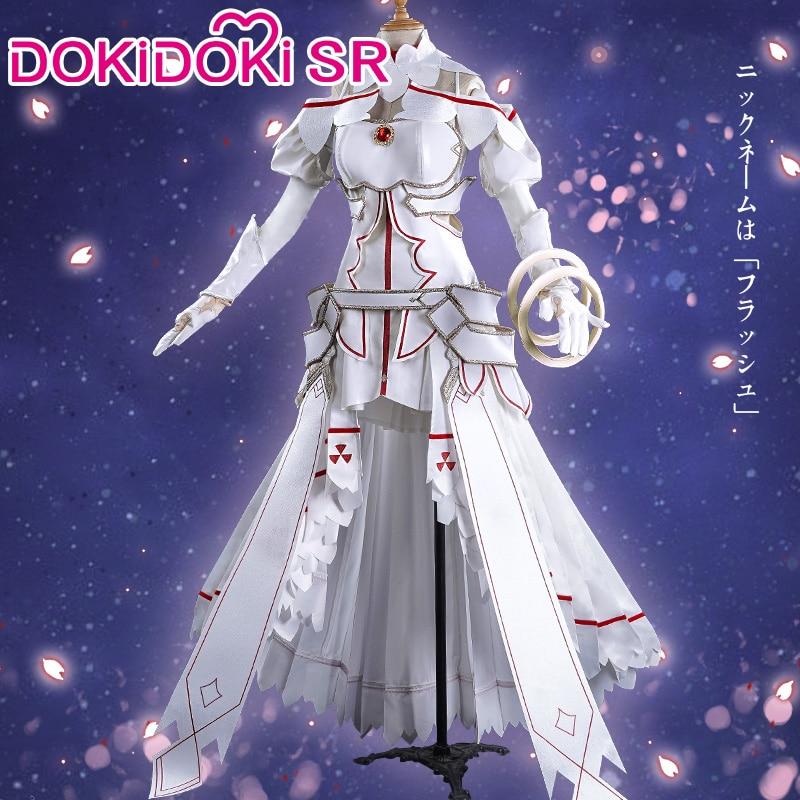 DokiDoki-SR Anime Sword Art Online Yuuki Asuna Cosplay SAO Women Dress Costume Sword Art Online Cosplay Yuki Asuna