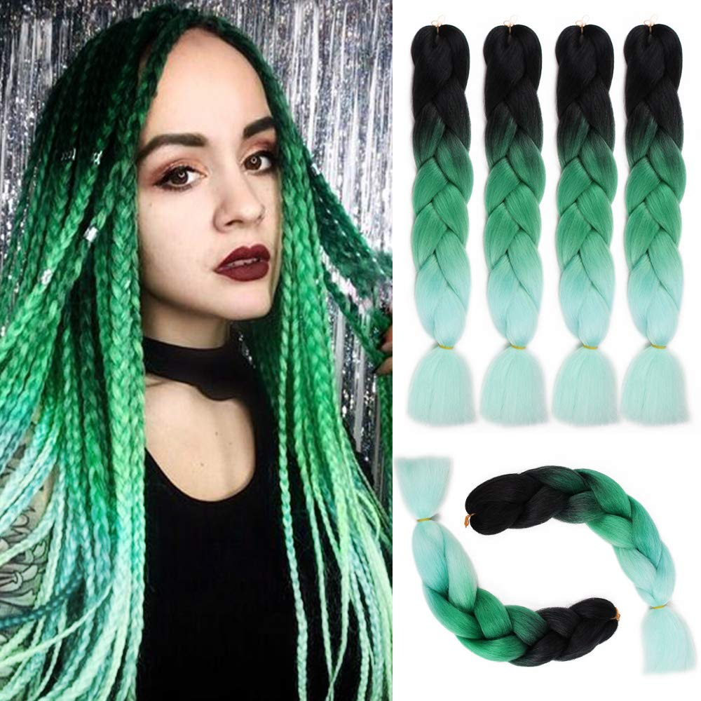 Tinashe Beauty Expression Crochet Jumbo Braids Hair Colored 24 Inch Fake Synthetic Braiding Hair Extensions for Braids 100g