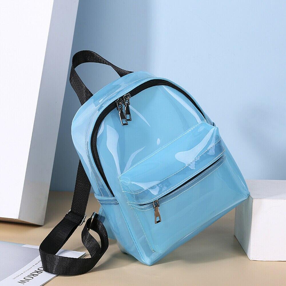 Мини Женский рюкзак новый прозрачный ПВХ женский рюкзак милый карамельный цвет Водонепроницаемый модный школьный рюкзак Mochilas