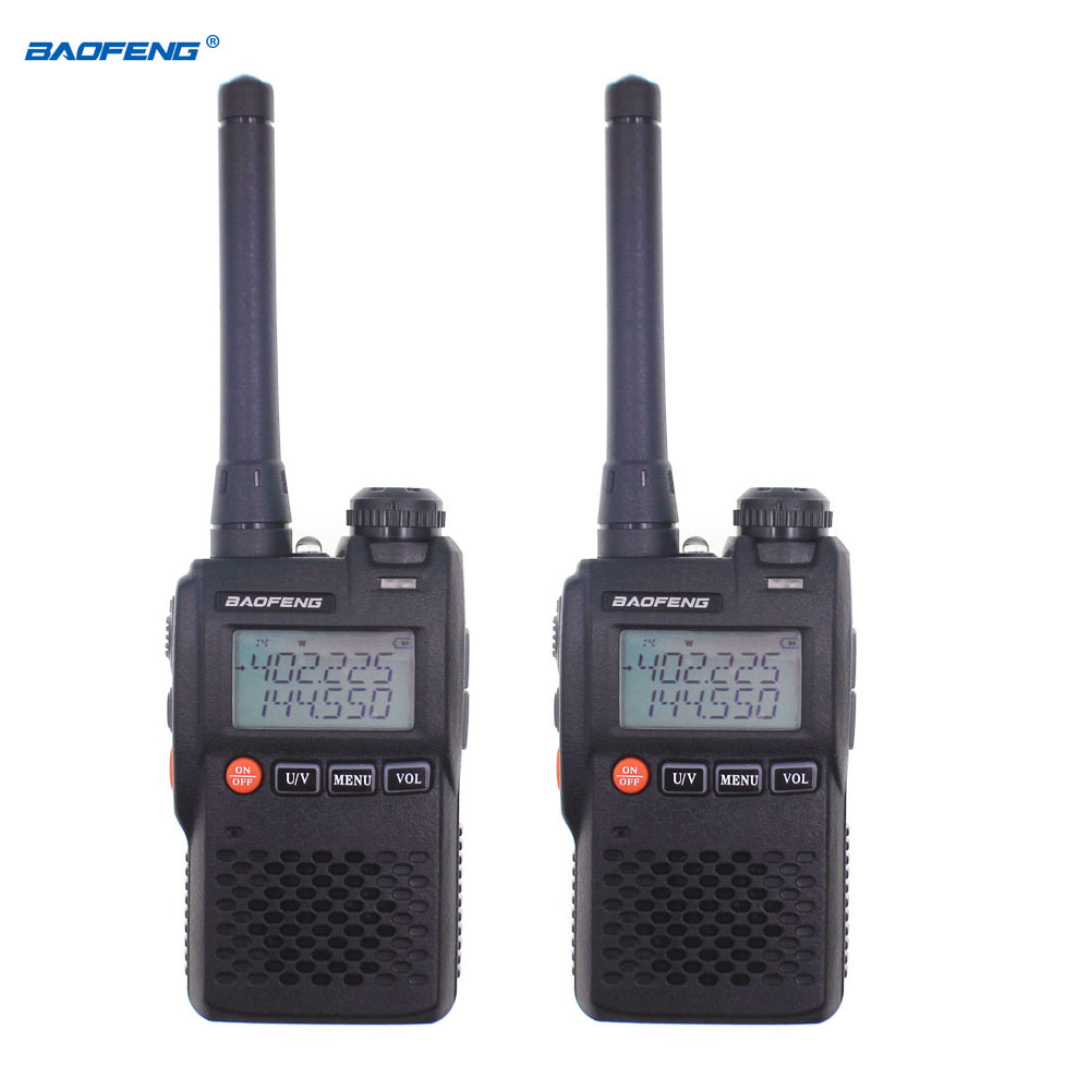 2 uds $TERM impacto Baofeng UV-3R Walkie Talkie UHF, VHF Mini UV 3R portátil CB Radio VOX linterna transceptor FM Radio Amador UV3R 433MHz LoRa RS232 RS485 módem DTU de larga distancia 2km 17dBm transmisor inalámbrico módulo Digital MEC PLC receptor