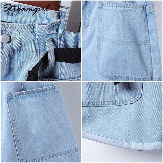 Summer High Waisted Shorts For Women With Belt Loose Short Jeans Women Denim Shorts With Pockets Jeans Short Woman Casual 10