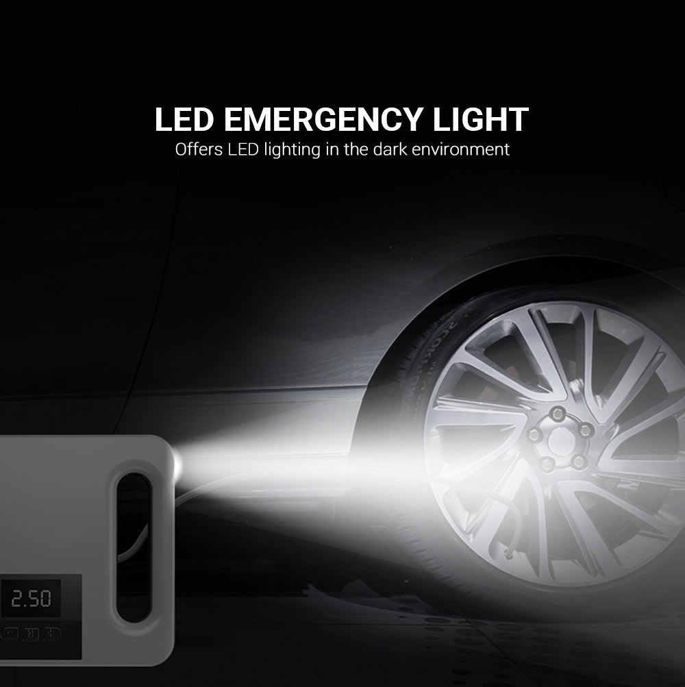 120W 22 Xi Lanh Xe Di Động Bơm Hơi Bơm Kỹ Thuật Số Không Khí Bơm Hơi Áp Suất Guage Đèn LED Tự Động lốp Bơm