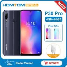 HOMTOM teléfono inteligente P30 pro, Android 9,0, Helio P23, MTK6763, Octa Core, 4GB ram, 64GB rom, pantalla de 6,41 pulgadas, batería de 4000mAh, 4G, FDD LTE, funda de cristal