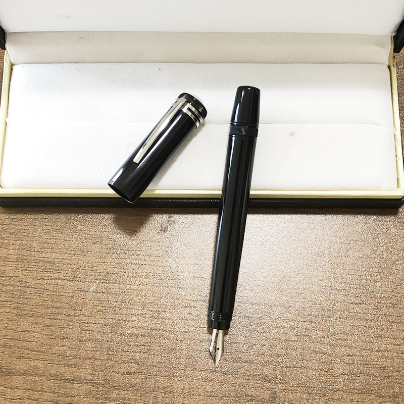 high quality  Fountain Pen 14k Retractable Nib Metal Black Caligraphy Ink Pens  korean stationery