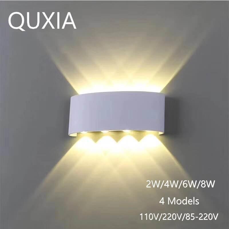Скандинавский настенный светильник светодиодный алюминиевый наружный внутренний Ip66 вверх вниз белый черный современный для домашней лест...