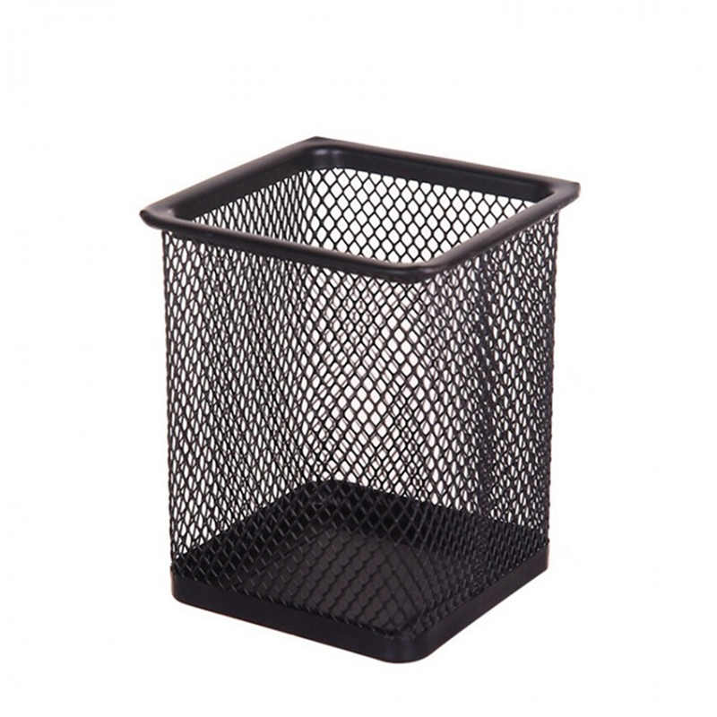 Black Metal Mesh Pen Stand Pencil Stationery Holder Desk Organizer Stand For Pens Office Storage Accessories