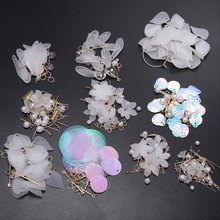 Korean White Shell Flower Petal Drop Earrings DIY Jewelry Making Package For Women 2019 New Statement Pendientes Trendy Jewelry