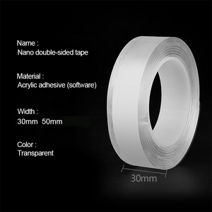 Image 2 - Double Sided Tapes Silica Gel Self Adhesive 1mm Super Transparent Traceless Double sided Tape for Kitchen Home Car Multiple Uses