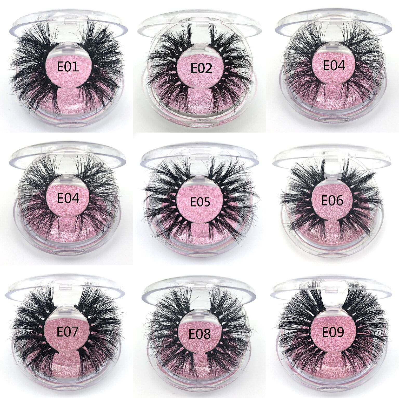 <font><b>25mm</b></font> Nerz Falsche Wimpern 20/30/<font><b>50</b></font> <font><b>pairs</b></font> Großhandel 3D Nerz Wimpern Cruelty Free Label Make-Up Dramatische lange Nerz Wimpern image