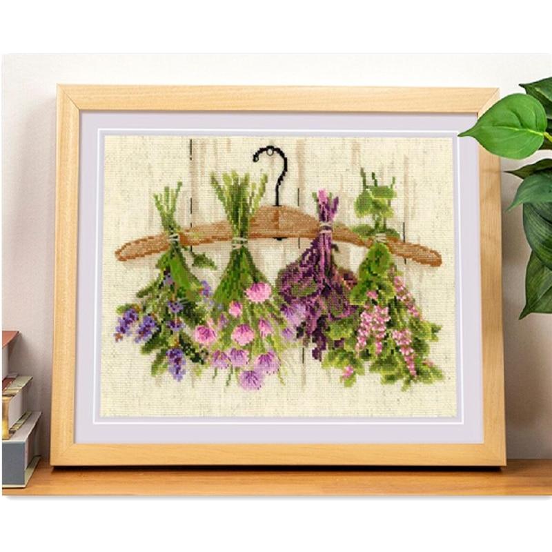 Hanging Flowers, Lemon 14 Ct Aida