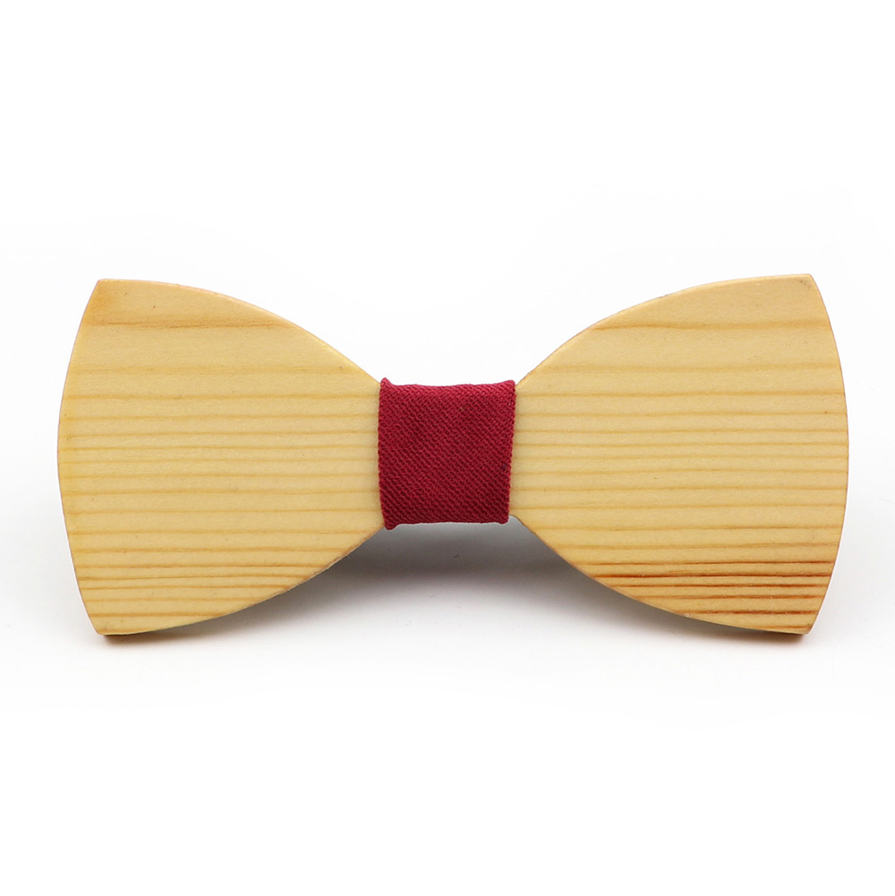 Fashion Men's Solid Wooden Bow Ties Novelty Handmade Neckwear Business Butterfly Wedding Party Bowtie High Quality Accessories