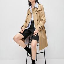 Женское повседневное пальто средней длины модное женское двубортное