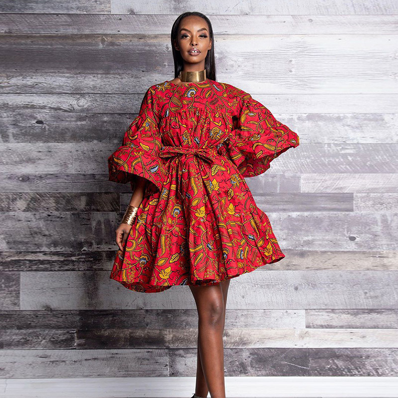 African Dresses For Women African Clothes Dashiki Dress African Ankara Dresses For Women Africain Clothing Women 39 s Dress 2019 in Africa Clothing from Novelty amp Special Use